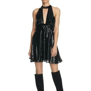NWT Free People Film Noir Sequined Dress Size 4